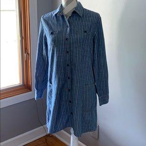 Lucky Brand Shirt Dress Size Small. Denim Striped